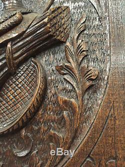 16119 French Antique Carved Wood Architectural Panel 1900s