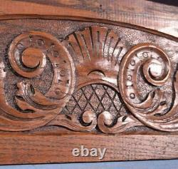 17 French Antique Hand Carved Architectural Panel Solid Oak Wood Trim