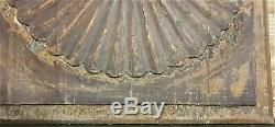 18 th Pair rosette wood carving panel antique french architectural salvage