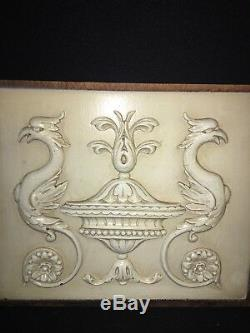 1920's 12 1/2 Carved Wood Panel Pediment