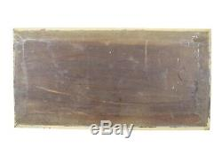 19th. C Antique French Walnut Wood Carved Panel Mascaron
