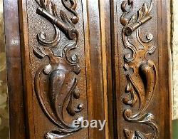 2 Griffin scroll leaf shield blazon panel Antique french architectural salvage