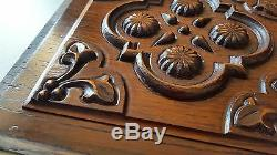 2 vintage carved wood panel Architectural salvage Wood carving N°2 12.6 x 12.48