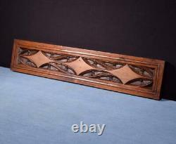 22 French Antique Gothic Panel in Carved Walnut Wood Salvage