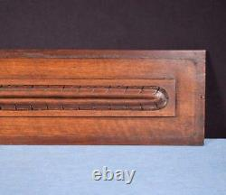 24 Antique French Carved Architectural Panel Walnut Wood Trim Salvage