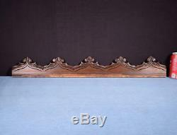 29 French Antique Gothic Pediment/Crest/Panel in Carved Walnut Wood Salvage