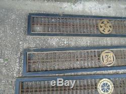 3 Amazing Hand Carved Wood Vintage Japanese Panels, Screens