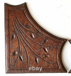 4 Antique carved wood corner panelApplique Onlay Furniture Architecture Paneling