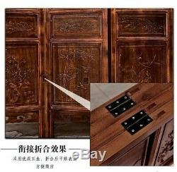 4 Panel Folding screen luxury hardwood hand-Carved Privacy Screen Room Divider