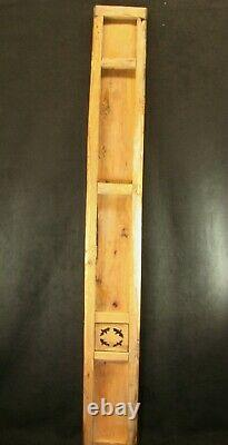 ANTIQUE CHINESE QING DYNASTY 150yrs HAND CARVED WOOD PANEL RED BLACK & GOLD 51