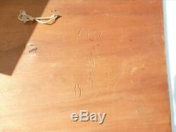 Ainu Bear Antique 1951 Carved Wood Wall Art Panel Japanese Higuma