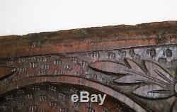 Antique Architectural Salvage Irish Earl Coronet Gothic Carved Wood Panel 17