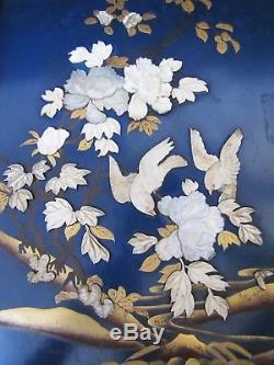 Antique Chinese 19th Century Carved Flower & Bird Door Panel