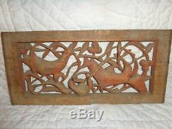 Antique Chinese Carved Relief Wood Architectural Salvage Panel, Figures, Screen