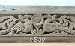 Antique Dragon Wall Hanging Wooden Panel Hand Carved Yalli Vintage Home decor US