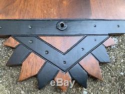 Antique EASTLAKE VICTORIAN Wood CLOCK SHELF Panel CORBEL Carved Fretwork