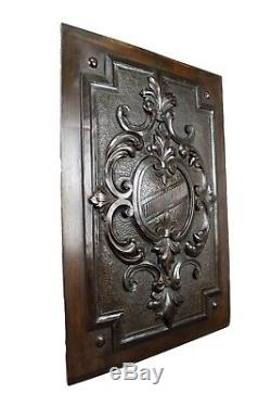 Antique French 19th. C Hand Carved Wood Wall Panel
