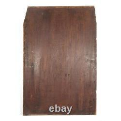 Antique French Carved Wooden Panel, Bas-Relief, Mascaron, Grotesque, Head, Faun
