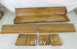 Antique French Fronts Panel Furniture, Molding Walnut Wood Hand Carved 8 pieces