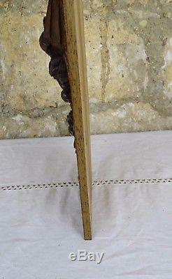 Antique French Hand Carved Architectural Walnut Panel Wood Ribbon Roses