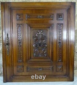 Antique French Large Carved Architectural Walnut Wood Panel Door Renaissance- 2