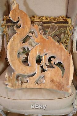 Antique French Lime Wood Carved Panels Architectural Chateau Salvage Wall Panel
