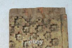 Antique Hand Carved Rare Wooden Floral Design Islamic Mughal Wall Panel NH3249