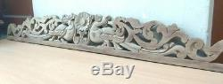 Antique Hand Carved Wall Hanging Wooden Panel Dragon Yalli Vintage Home decor