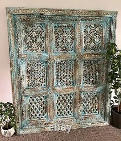 Antique Indian Wood Wall Panel, Wall Decor, Home and Living