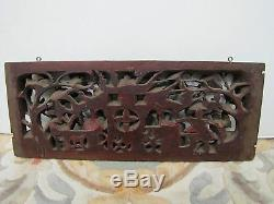 Antique Mid-19th Century Hand-Carved Window / Door Decorative Wood Panel. 4