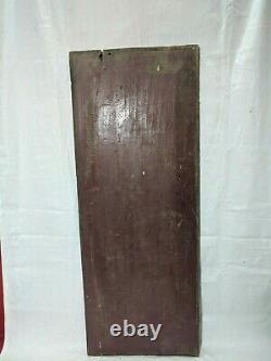Antique Solid Rare Wooden Floral Wall Panel Vintage Door Window Beam Plaque34