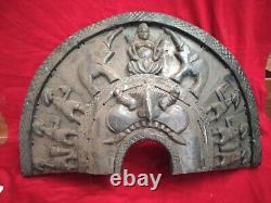 Antique Theyyam Mask Wall Panel Vintage Wooden panel Hindu Temple Dance Folk Art