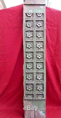 Antique Wall Panel Wooden Floral Carved Door Beam Corbel Home Decor Estate UK