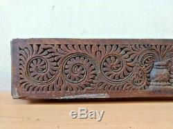 Antique Wall Panel Wooden Floral Hand carved Door panel Estate Home Decor Rare