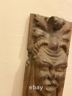 Antique Wood Carved Panels Grotesque Gothic Reneassance 18-19th c