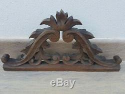 Antique french carved wood PEDIMENT PANEL FRONTON