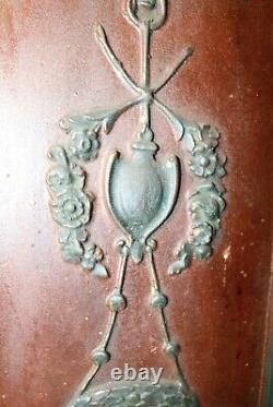 Antique hand carved wood Victorian architectural salvage wall sculpture panel