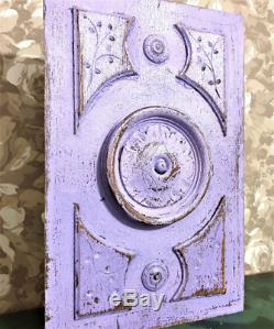 Architectural salvage crackled painted panel Antique french rosette carving