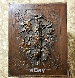 Architectural salvage hunting trophy panel Antique french black forest carving a