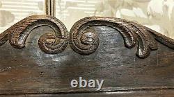 Architectural salvage scroll leaf pediment Antique french salvaged panel trim
