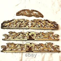 Authentic Antique Chinese Wood Panels Carving Asian Artwork Ca. 1600-1800s