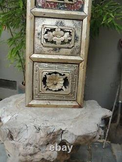 BF2. Antique Carved Gold Gilt Wood Panel with Bird and Flower Screen