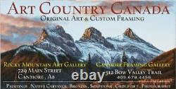 BLUE RAVEN 12 Harvey JOHN Original Haida Carving Panel Hand Painted Native art