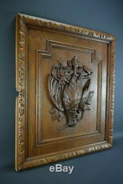 Black Forest Carved Wood Hunting Trophy Wall Panel Game Bird Plaque