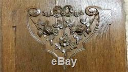 Bow garland flower panel Antique french wood carving architectural salvage