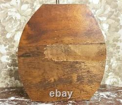 Bow ribbon flower basket wood carving panel Antique french architectural salvage