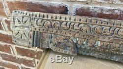 Carved Wood Indian Architectural Panel Ganesh Antique / Vintage / Original
