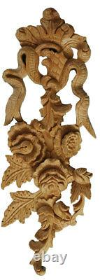 Carved Wooden Wall Hanging Chic Retro Wood Panel Feature in Pinewood, PN963