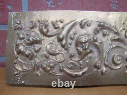 DEVILS HEAD Antique 19c Carved Wood Panel Architectural Decorative Arts Element