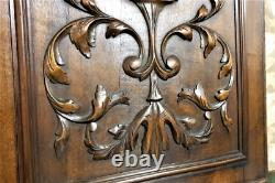 Decorative scroll leaf wood carving panel Antique french architectural salvage